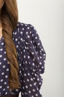 шифоновое платье в горошек. платье Лайса д/р. Цвет: синий - белый горох в интернет-магазине