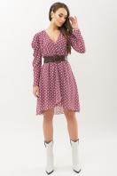 шифоновое платье в горошек. платье Лайса д/р. Цвет: фрез-белый горох в интернет-магазине