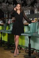 черное платье с длинными рукавами. Платье Лора д/р. Цвет: черный купить
