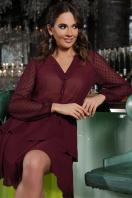черное платье с длинными рукавами. Платье Лора д/р. Цвет: бордо в интернет-магазине