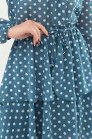 . Платье Алора д/р. Цвет: бирюза-белый горох в интернет-магазине