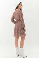. Платье Алора д/р. Цвет: капучино-белый горох цена