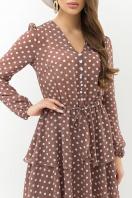 . Платье Алора д/р. Цвет: капучино-белый горох в интернет-магазине