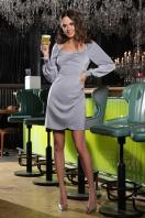 коктейльное серое платье. Платье Анелия д/р. Цвет: серый купить