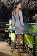 коктейльное серое платье. Платье Анелия д/р. Цвет: серый в интернет-магазине