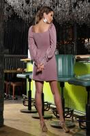 коктейльное серое платье. Платье Анелия д/р. Цвет: лиловый цена