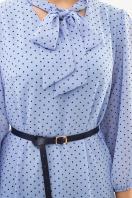 платье из шифона с рукавом три четверти. платье Малика д/р. Цвет: голубой-черный м.горох в Украине
