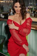 . Платье Велия д/р. Цвет: красный цена