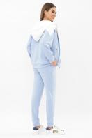 бирюзовый спортивный костюм. Костюм Пэм. Цвет: голубой-белая отд. цена