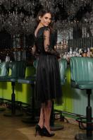 черное платье с вышивкой. Платье Марита д/р. Цвет: черный цена