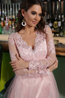 черное платье с вышивкой. Платье Марита д/р. Цвет: пудра цена