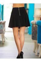расклешенная короткая юбка. юбка Клин. Цвет: черный купить