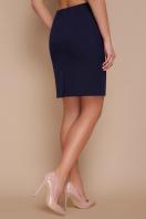прямая синяя юбка до колен. юбка мод. №1. Цвет: темно синий