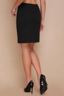 прямая синяя юбка до колен. юбка мод. №1. Цвет: черный