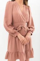 . Платье Идэн д/р. Цвет: капучино-точка белая в интернет-магазине