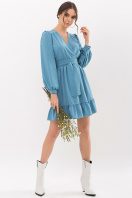 . Платье Идэн д/р. Цвет: бирюза-точка белая купить