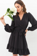 . Платье Идэн д/р. Цвет: черный-точка белая купить