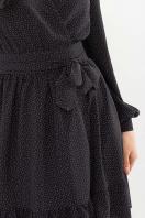 . Платье Идэн д/р. Цвет: черный-точка белая в интернет-магазине