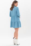 . Платье Наваль д/р. Цвет: бирюза-точка белая цена