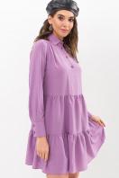. Платье Наваль д/р. Цвет: сирень-точка черная купить