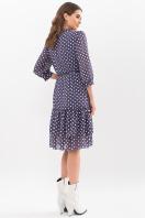 платье хаки из шифона. Платье Элисон 3/4. Цвет: синий - белый горох цена