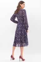 нежное платье на запах. Платье Алеста д/р. Цвет: синий-цветы в интернет-магазине
