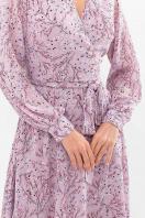 нежное платье на запах. Платье Алеста д/р. Цвет: сиреневый-голуб.м.цветок в Украине