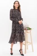 . Платье Мануэла д/р. Цвет: черный-цветы купить