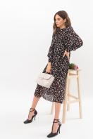 . Платье Мануэла д/р. Цвет: черный-цветы цена
