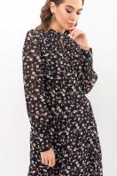 . Платье Мануэла д/р. Цвет: черный-цветы в Украине