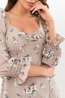 . Платье Пала д/р. Цвет: бежевый-белый букет недорого