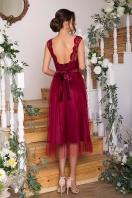 выпускное платье с фатиновой юбкой. Платье Паиса б/р. Цвет: бордо цена