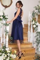 выпускное платье с фатиновой юбкой. Платье Паиса б/р. Цвет: синий цена