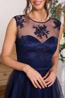 выпускное платье с фатиновой юбкой. Платье Паиса б/р. Цвет: синий недорого