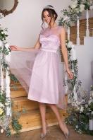 выпускное платье с фатиновой юбкой. Платье Паиса б/р. Цвет: св. сиреневый купить