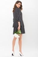 . Платье Салима 3/4. Цвет: черный-белый горох цена