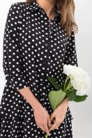 . Платье Салима 3/4. Цвет: черный-белый горох в интернет-магазине