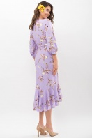 платье на запах из софта. Платье Сафура 3/4. Цвет: лавандовый-ветка цена