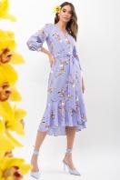 платье на запах из софта. Платье Сафура 3/4. Цвет: джинс-ветка цена