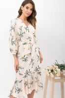 платье на запах из софта. Платье Сафура 3/4. Цвет: персик-ветка купить