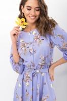 . Платье Сауле 3/4. Цвет: джинс-ветка цена