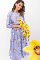 . Платье Сауле 3/4. Цвет: джинс-ветка в интернет-магазине