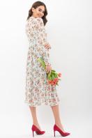 . Платье Мануэла д/р. Цвет: мята-персик Розы цена
