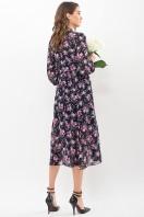 . Платье Мануэла д/р. Цвет: синий-розов. Розы цена