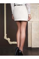 белая юбка с карманами. юбка мод. №4. Цвет: молоко купить