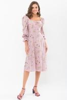 . Платье Пала д/р. Цвет: лиловый-цветы-ягоды купить