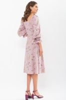. Платье Пала д/р. Цвет: лиловый-цветы-ягоды в интернет-магазине