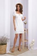 белое мини платье. Платье Бажена к/р. Цвет: белый 1 цена