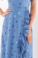 платье хаки в горошек. Платье Румия к/р. Цвет: джинс-горох цветной в Украине