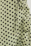 платье хаки в горошек. Платье Румия к/р. Цвет: хаки-черный горох в Украине